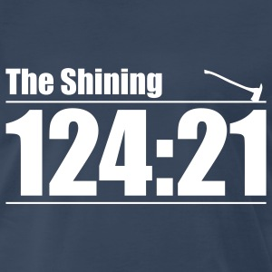 Navy The Shining: Here's Johnny! T-Shirts - Men's Premium T-Shirt