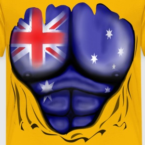 Australia Flag Ripped Muscles, six pack, chest t-shirt - Kids' Premium T-Shirt