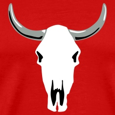 Red cow_skull_a_3c T-Shirts