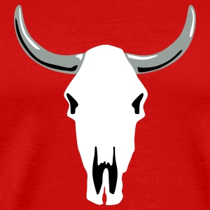 Red cow_skull_a_3c T-Shirts - Men's Premium T-Shirt