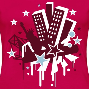 Fuchsia new_york city Plus Size - Women's Premium T-Shirt