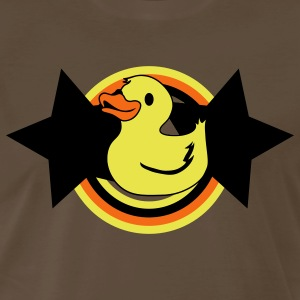Brown rubber ducky on a star and rainbow T-Shirts - Men's Premium T-Shirt