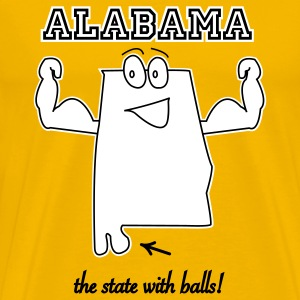 State with balls Alabama t-shirts - Men's Premium T-Shirt