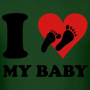 Forest green I Love my Baby T-Shirts - Men's T-Shirt