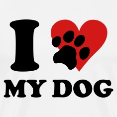 White I love my DOG T-Shirts