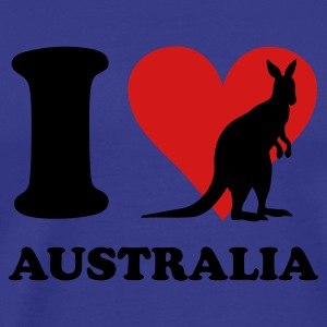Royal blue I Love Australia Kangaroo T-Shirts - Men's Premium T-Shirt