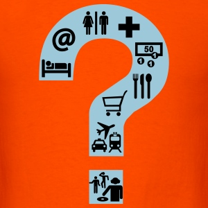 Orange Holiday Question Mark T-Shirts - Men's T-Shirt