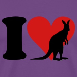Purple I Love Kangaroo T-Shirts - Men's Premium T-Shirt