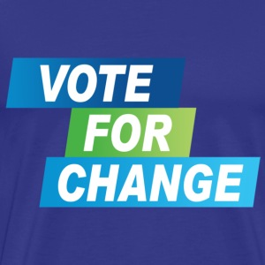 Vote for Change, David Cameron - Men's Premium T-Shirt