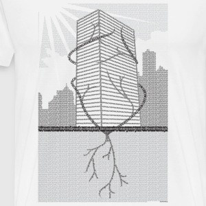 White breaking grass T-Shirts - Men's Premium T-Shirt