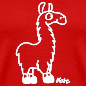 Red Lama T-Shirts - Men's Premium T-Shirt