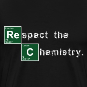 Black Respect the Chemistry Breaking Bad T-Shirts - Men's Premium T-Shirt