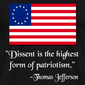 Black Dissent Patriotic Thomas Jefferson T-Shirts - Men's Premium T-Shirt