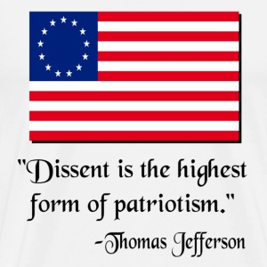 White Dissent Patriotic Thomas Jefferson T-Shirts - Men's Premium T-Shirt