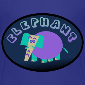 Royal blue Colorful Elephant On Oval Bkgrd With Shading--DIGITAL DIRECT ONLY Kids' Shirts - Kids' Premium T-Shirt
