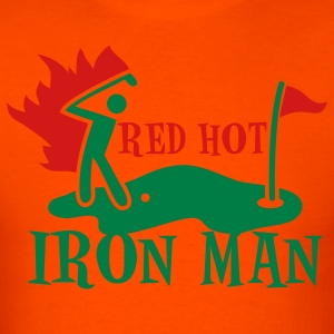 RED HOT IRON man GOLF shirt T-Shirts - Men's T-Shirt