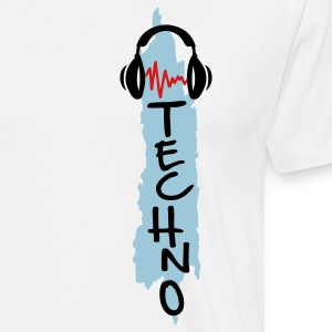 White techno T-Shirts - Men's Premium T-Shirt
