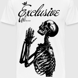 White skeleton black T-Shirts - Men's Premium T-Shirt