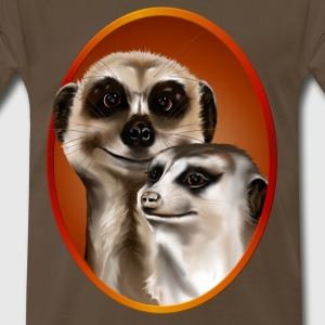 Two Cozy Meerkats - Men's Premium T-Shirt
