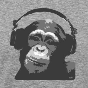 Ash DJ MONKEY by wam T-Shirts - Men's Premium T-Shirt
