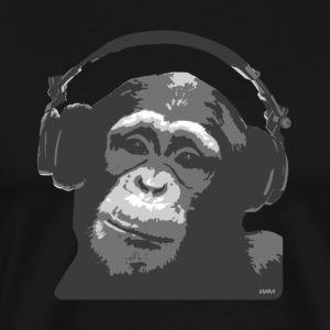 Black DJ MONKEY by wam T-Shirts - Men's Premium T-Shirt