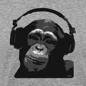 Heather grey dj monkey by wam T-Shirts - Men's Premium T-Shirt