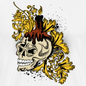 White wax skull T-Shirts - Men's Premium T-Shirt