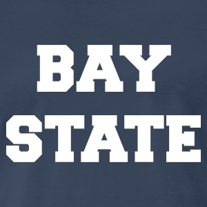 Navy massachusetts bay state T-Shirts - Men's Premium T-Shirt