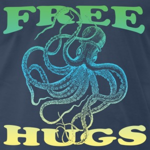 Navy free hugs T-Shirts - Men's Premium T-Shirt