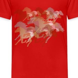 Running Horses - Toddler Premium T-Shirt