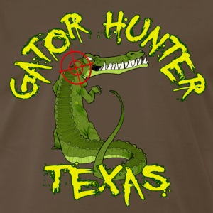 Chocolate Gator Hunter Texas T-Shirts - Men's Premium T-Shirt