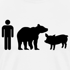 White man bear pig by wilcox T-Shirts - Men's Premium T-Shirt