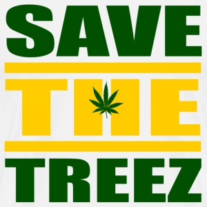 White Save The Treez T-Shirts - Men's Premium T-Shirt