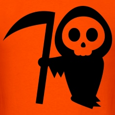 Orange grim reaper halloween T-Shirts