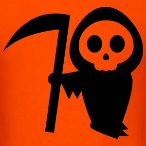Orange grim reaper halloween T-Shirts - Men's T-Shirt