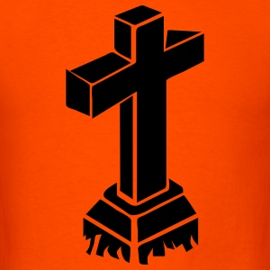 Orange grave cross T-Shirts - Men's T-Shirt