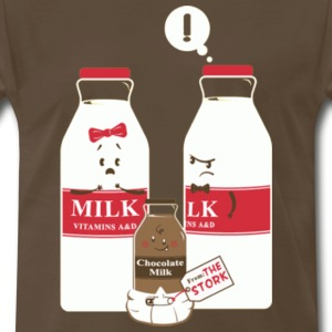 Brown Baby Milk T-Shirts - Men's Premium T-Shirt
