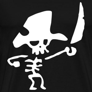 Pirate Skeleton - Men's Premium T-Shirt