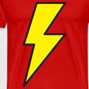 Red lightning bolt T-Shirts - Men's Premium T-Shirt