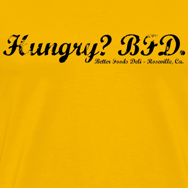 Hungry? - Black Text