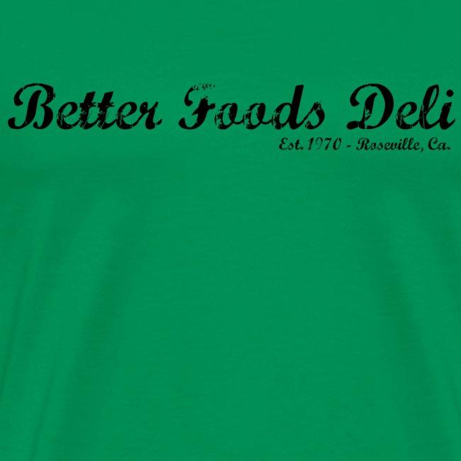 Better Foods Deli - Black Text