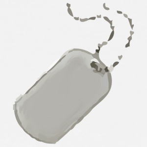 White dog tag T-Shirts - Men's Premium T-Shirt