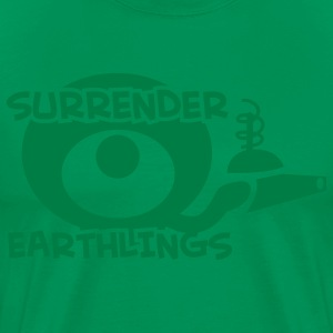 surrender earthlings with ALIEN and RAY GUN T-Shirts - Men's Premium T-Shirt