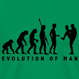 Sage evolution_baseball_pitcher_1c T-Shirts - Men's Premium T-Shirt