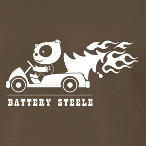 Battery Steele, Brown - Men's Premium T-Shirt