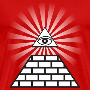 Red all seeing eye T-Shirts - Men's Premium T-Shirt
