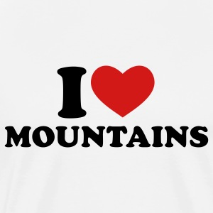 Natural I Love Mountains T-Shirts - Men's Premium T-Shirt
