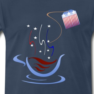 American Tea Cup - Men's Premium T-Shirt