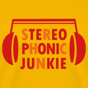 Yellow Stereo Phonic Junkie T-Shirts - Men's Premium T-Shirt