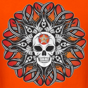 Goth Skulls - Orange T-Shirts - Men's T-Shirt